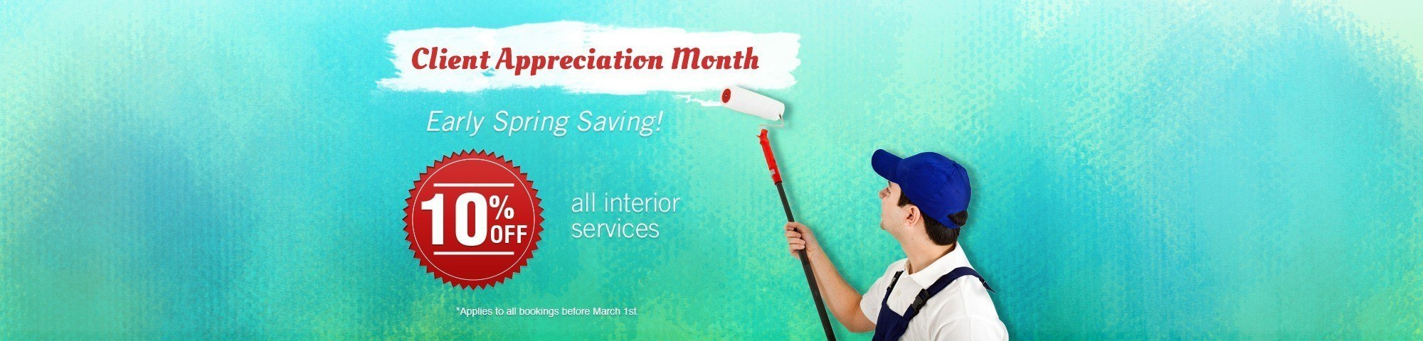 client appreciation month interior painting